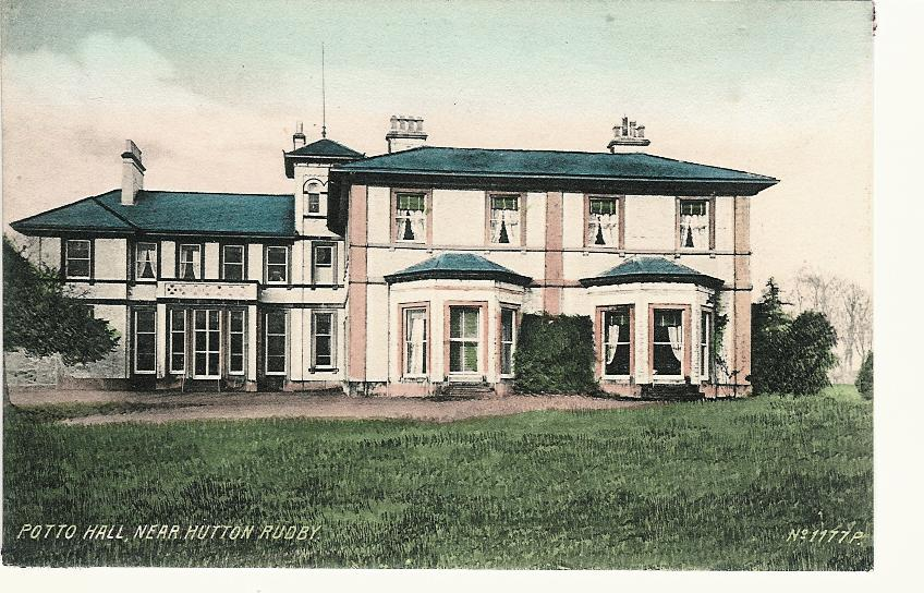 Potto Hall from a Postcard